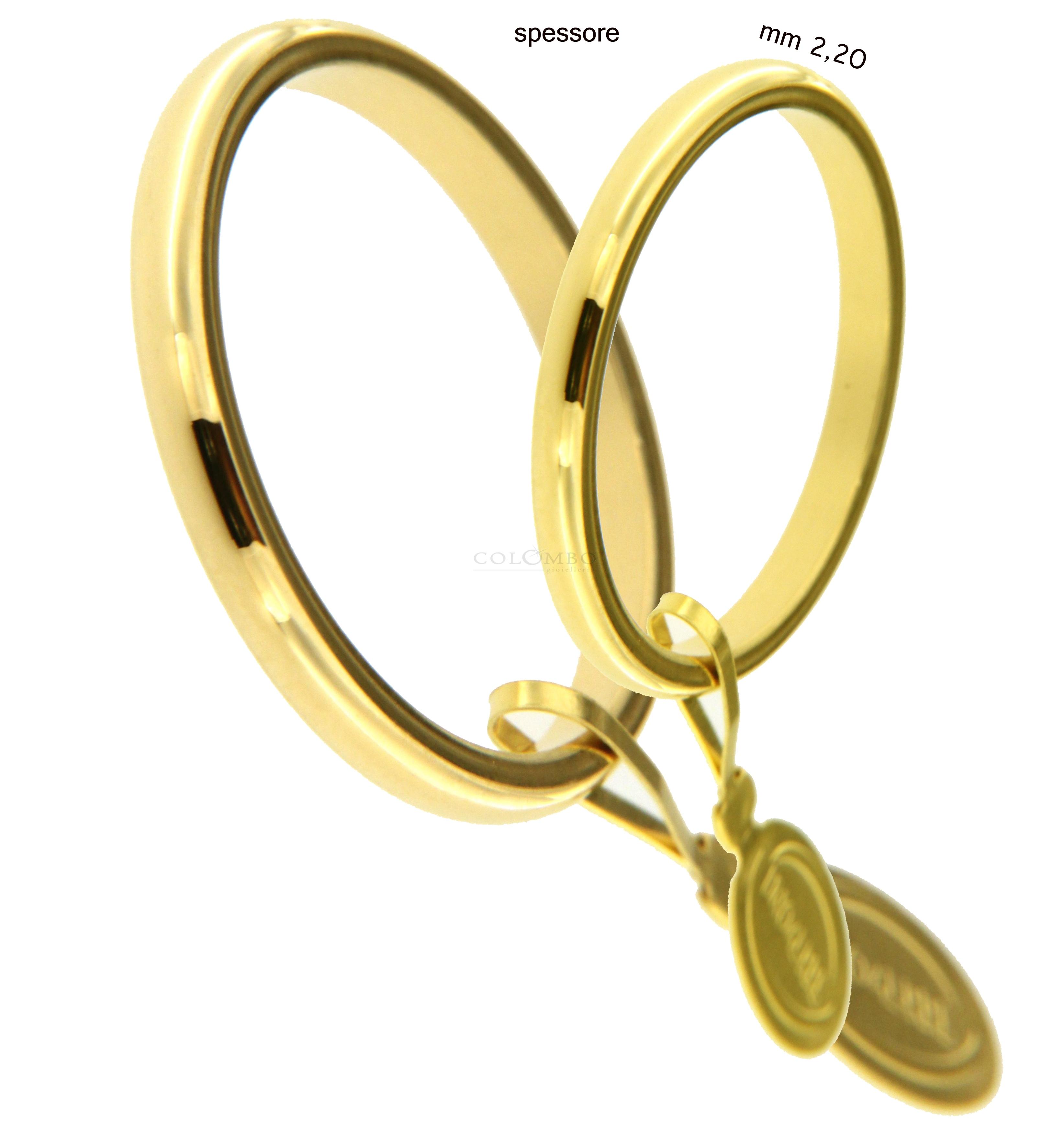 Fedi nuziali francesina oro giallo