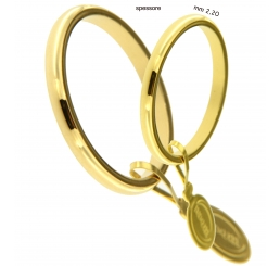 UnoAErre fede nuziale FRANCESINA oro giallo 18kt mm 2,20