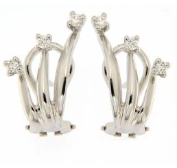 Recarlo Orecchini Oro Bianco con diamanti Etrnity