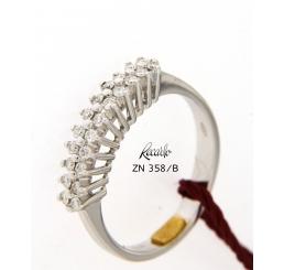 Recarlo anello fedina oro bianco kt18 gr 3,30 diamanti ct0,024