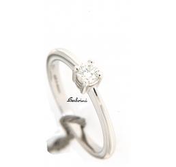 Salvini anello solitario oro bianco k 18 diamante ct 0,24