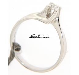 Salvini anello solitario oro bianco k 18 diamante ct 0,14