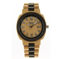 Green Time Orologio Solo Tempo 100% legno Acero Sandalo naturale