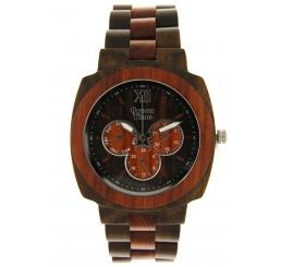 Green Time Orologio Multifunzione 100% Sandalo rosso e marronenaturale