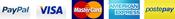 Paypal, Visa, MasterCard, AmericanExpress, PostePay