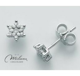 Miluna Orecchini Oro Bianco 18Kt Diamanti  0.12 ct
