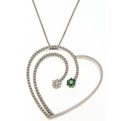 Recarlo Collana con Pendente Smeraldi Diamanti