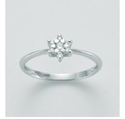 Miluna Anello Oro bianco 18Kt diamanti