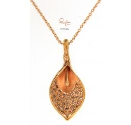 Quaglia collana girocollo LILY oro rosa k18 diamanti ct 0,272
