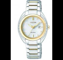 Citizen Orologio donna con diamanti EcoDrive E013
