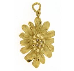 Quaglia Ciondolo Oro giallo 18K con Diamanti