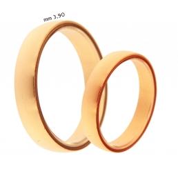 Colombo - Collezione Privata fede nuziale NUOVAMANTOVANA oro rosa 18kt mm 3,90