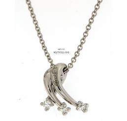 Recarlo collana girocollo trilogy oro bianco k18 gr 5,67 diamanti ct 0,13