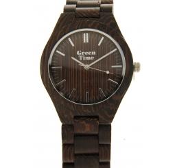 Green Time Orologio Solo Tempo 100% legno Wenge