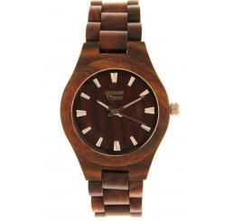 Green Time Orologio Solo Tempo 100% legno Sandalo rosso naturale