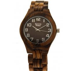 Green Time Orologio Solo Tempo 100% legno Zebrano